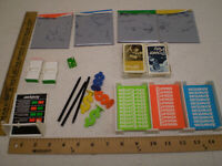 Vintage Billionaire Board Game 1973 Parker Brothers Replacement Parts Cards LOT