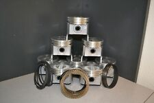 MARINE Chevy GM 350 5.7L OHV V8 - FLAT TOP PISTONS & RINGS