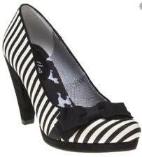 Ruby Shoo SUSANNA Streifen STRIPES Schleife BOW Vintage PUMPS High Heels