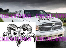 Hemi Dodge Ram Head Hood Truck Decal Mopar Stickers Racing Graphics Choose Color