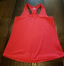 Womens Hot Pink Coral Racerback Tank Top Shirt Size Medium Hind EUC