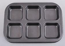 Non Stick Muffin Pan Tin Square Steel Tray Baking Rectangle Cupcake Cake 26x18cm