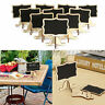 10Pcs Mini Wooden Chalkboard Blackboard Message Table Number Wedding Party Pop