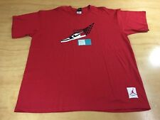 Nike Air Jordan AJ I Black Toe Old Love Wings Tee Shirt Red XL Flight Retro