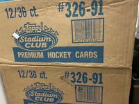 1991-92 NHL Topps Stadium Club Hockey Wax Box Case 12 Boxes Per Case