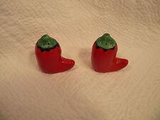 Red Chili Pepper Salt & Pepper Shakers
