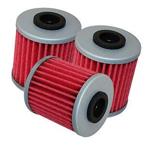 3 Pack Oil Filter for Suzuki RM-Z250 RM-Z450 RMX450Z RMZ250 RMZ450 2004 2005-19
