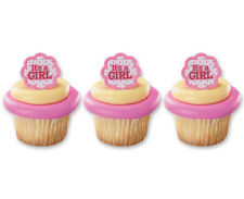 it's a Girl 24ct Baby Shower Cupcake Rings Bag Fillers Party Game Favors Prizes
