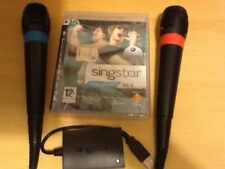 SINGSTAR vol 3 italiano Sony PS3 Wired MICROFONI KARAOKE CANTO gioco!
