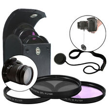 52MM 3 Piece Filter Kit & Cap Keeper for Nikon 18-55mm AF-S 55-200mm 50mm f/1.8D