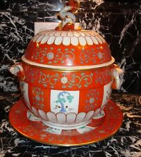 Herend Godollo Large Tureen and Matching Platter