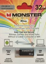 Monster Digital 32gb USB Flash Drive USB 3.0 Dual Connector  Micro USB - Black