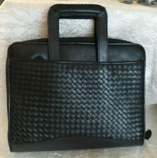 Scully Woven Leather Zip Organizer Drop Handles Brief Case