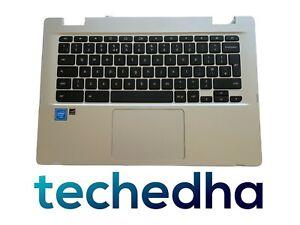 Asus Chromebook C423N C423NA Palmrest Touchpad Upper Case UK Keyboard