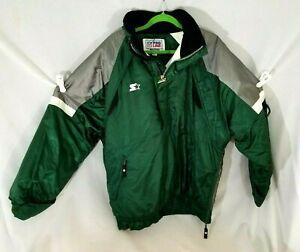 Starter NFL New York Jets Vintage Jacket Throwback Pullover Hooded Men's Large