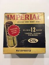 VINTAGE IMPERIAL SPECIAL LONG RANGE 12 GAUGE SHOT SHELLS AMMO BOX EMPTY