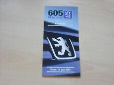 51740) Peugeot 605 Preise & Extras Prospekt 06/1997