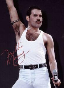 Beautiful Freddie Mercury Signed 8 x 10 Photo - Reprint Very Nice!