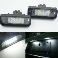 2pcs Canbus LED License Plate Light For MERCEDES BENZ C Coupe CL203 2000-2011