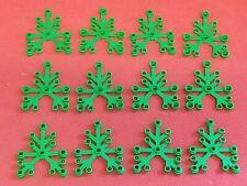 LEGO Lot of 12 Regular Green Plant Leaves 2417 New 6 x 5