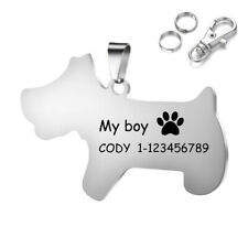 Custom Laser Engrave Stainless Steel Dog Charms Key Chain&Pet Tags