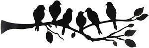 Ridota Metal Wall Art Decor, 6 Birds on the Branch Metal Art Wall Decor Hanging