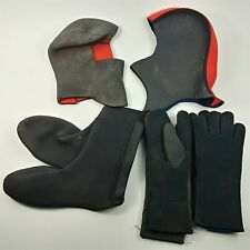 Thick Neoprene Scuba Diving Lot 5 Pcs. 2 Head Cover, 1 Boot & 2 Gloves
