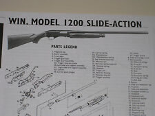 WINCHESTER MODEL 1200 SHOTGUN EXPLODED VIEW