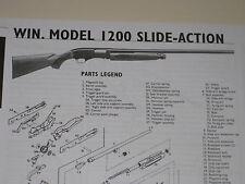 WINCHESTER MODEL 1200 SHOTGUN EXPLODED VIEW