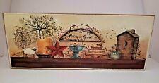 "Amazing Grace Wood Block 4""x10"" Primitive Country Kitchen Print"