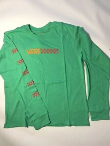 Vans New Glory Daze Long Sleeve Green T-Shirt Youth Girl's Medium (10-12)