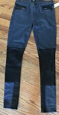 Hudson Jeans Leather Newton Patchwork Super Skinny 26 New Tags Stretch