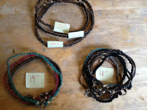Greyhound Sighthound Tag Collars Necklaces Snag-Free. Leather Handmade.