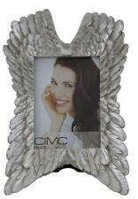Angel Cherub Wing Portrait Photo Picture Frame Grey Mother of Pearl 5x7""