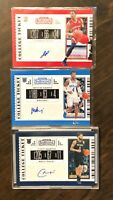 2019-20 Panini Contenders Draft Picks Auto Lot Of 3 Jaylen Hands James Palmer CM