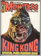 """Famous Monsters #108 July 1974 VF King Kong """"Bone"""" white cover!"""