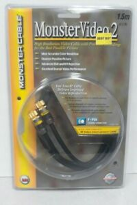 Monster MV2 RF Video Interconnect Cable 1.5 M     New In Package   Free Ship
