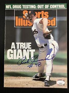 Rick Reuschel Signed Sports Illustrated Mag 7/10/89 NO LABEL Giants Auto JSA