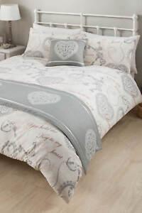 Antoinette Bed In A Bag Double Bedding Home Bedroom Duvet Pillow Duvet Runner