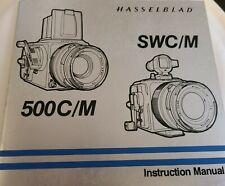 Genuine Hasselblad 500C/M Swc/M Instruction Manual! Excellent Plus Condition!