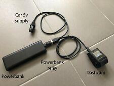More details for dash cam power bank battery relay usb car parking recording dashcam powerbank