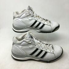 Adidas Blindside 4 Basketball Sneakers Mid Top Lace Up Leather White Mens 12