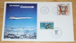 Air France Concorde First Flight Paris--Washington Cover Double Flown Lim. Edt.