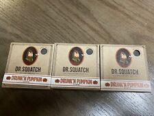 Lot Of 3 Dr. Squatch Drunkn Pumpkin organic soap 5oz BarLIMITED EDITION