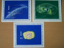EAST GERMANY,1964 QUIET SUN YEAR,3 USED M/SHEETS,SG.MSE801,CAT £30,SCARCE.