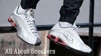 """Nike Shox R4 """"White/Comet Red/Black"""" Men's Trainers Limited Stock All Sizes YOGI"""