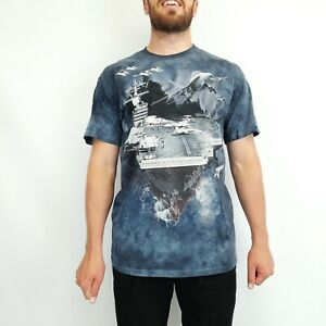 The Mountain Aircraft Carrier T-Shirt Blue Large