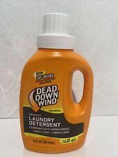 Dead Down Wind Laundry Detergent Unscented Scent Prevention Eliminator 20oz