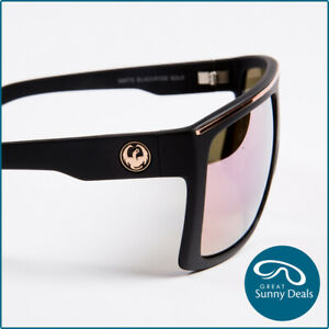 NEW Dragon Fame Matte Black Rose Gold Ionised (720-2213) Sunglasses
