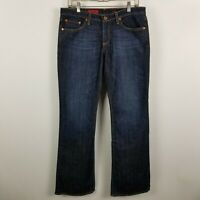 AG Adriano Goldschmied The Angle Boot Cut Womens Dark Wash Blue Jeans Size 31x33